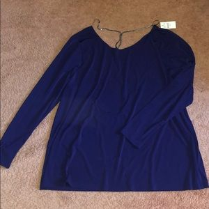 Lane Bryant Blouse size 22-24 purple with chain
